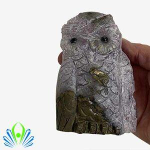Amethyst Geode Owl